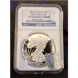 2015 US $1 PF 70 Silver Eagle Early Release-NO RESERVE