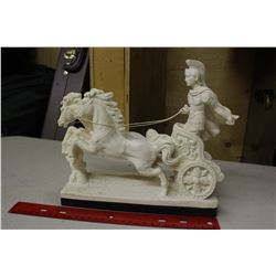 Horse& Chariot Statue Figure (Made&Signed by L.Toni)