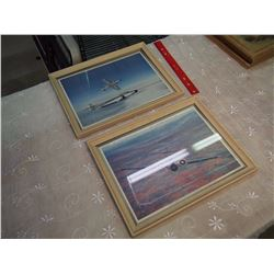 Pair Of Aircraft Framed Pictures