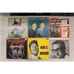L.P Records(6)(Buddy Holly, Little Richard, The Platters, Chubby Checker, Everly Brothers, Billy Hal