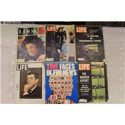 1960s Kennedy Magazines (6)(Life, Look, Time)