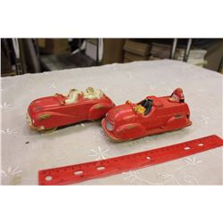 1930s Viceroy Sunruco Donald Duck Pluto Toy Car&Mickey Mouse Fire Depo.