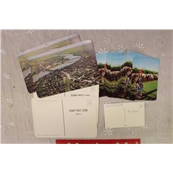 1950s Airview of Saskatoon Looking North (Giant Postcards)&1950s Cree Man Dancing at Cochin Stampede