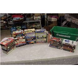 Lot of VHS Movies (The Breakfast Club,Bambi,Snow White,Etc;)w/President's Choice Greenbox
