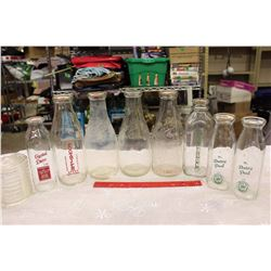 Lot of Vintage Milk Bottles (8)(The Dairy Pool, Purity, Crescent, Etc;)