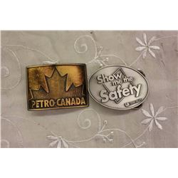 Petro-Canada Belt Buckle& 'Show me the Safety' Swan Valley Belt Buckle