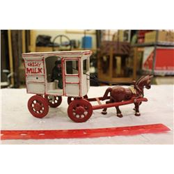 Reproduction Cast Iron Milk Wagon