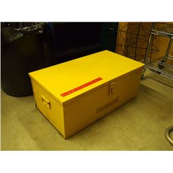 "Large Yellow Metal Toolbox, 30""x16""x12"""