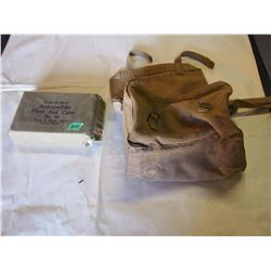 WWII Army Bag& Auto First Aid Kit