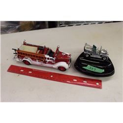 Bed Ford Falls Fire Truck Model& Automobile Ashtray