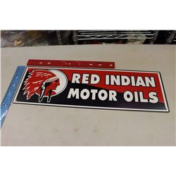 Red Indian Enamel Sign (Reproduction)
