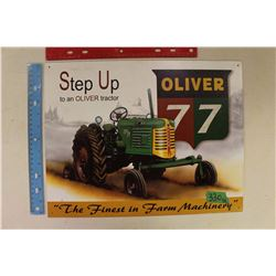 "Oliver 77' Sign ""The Finest in Farm Machinery"""
