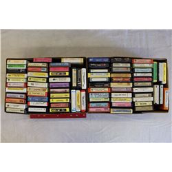 Lot of 8 Tracks (Mac Davis, Johnny Mathis, Charlie Pride, Etc;)