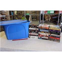 Tub Tote w/VHS(57)(Forest Gump, Patch Adams, The Getaway, Etc;)