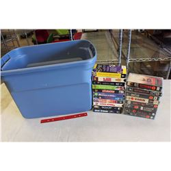 Tub Tote w/VHS(46)(Austin Powers, Face/Off, Marvin's Room, Out of Time, Etc;)