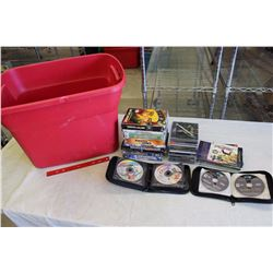 Tub Tote w/Video Games (09 Fifa, Call of Duty War Chest, Pure, Etc;)
