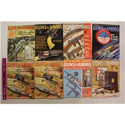 Guns&Ammo Magazines (8)(1961,1962(3),1963(4))