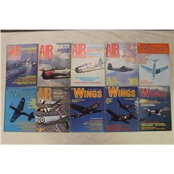 Air Classics(5)(1973(4),1974)& Wings Magazines(5)(1973,1975(4))
