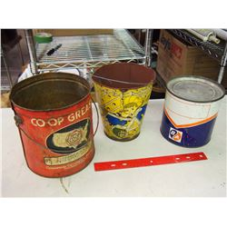 Lot Of Tin (3) (Co-op, B/A Etc)