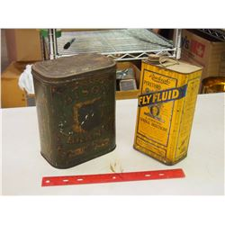 Pair Of Tins (Fly Fluid And Bison Brand Pastry Spice)
