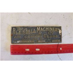 Blaisdell Cash Register Plate