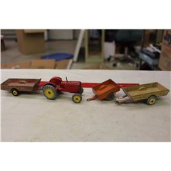 Dinky Toys(4): Massey Harris Tractor& Farm Trailers