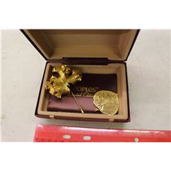 Gold Plated Leaf Pendant&Pin (Large)(People's Limited Edition)