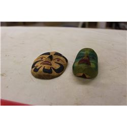 Small Hand Carved Masks (2)