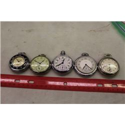 Assorted Pocket Watches (5)(Mostly Working)