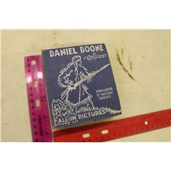 1938 Daniel Boone 'High Lights of History Series' Mini Picture Book