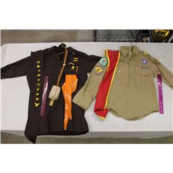 Boys&Girls Scouts Uniforms w/Badges&Other Accessories