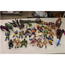 Lot of He Man Action Figures w/Accessories