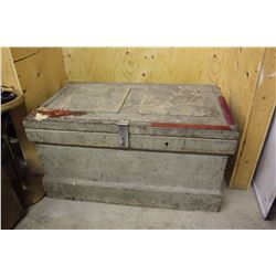 "Antique Wooden Toolbox With Inserts (3) 36""x22""x18"""