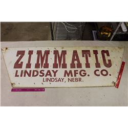 "Zimmatic DS Metal Sign, Lindsay, Nebr, 56""x18"""