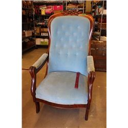 Civil War Upholdered Lounge Chair