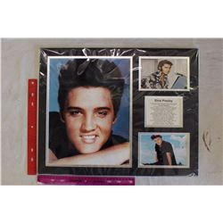 Elvis Presley Portraits Piece w/Number One Singles Listed