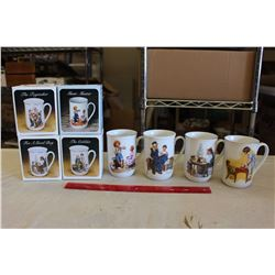 Collectors Porcelain Mugs by Norman Rockwell(8)