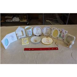 Lot of Precious Moments Plates, Frames&Decorations (10 Pieces)
