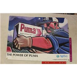 "The Power of Puma' Metal Sign (32""x23"")(ArgEvo Co.)"