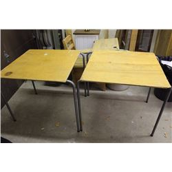 "Pair Of Wood Card Tables (34""x30""x30"")"