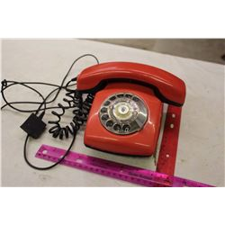 Plastic Red Dial Telephone