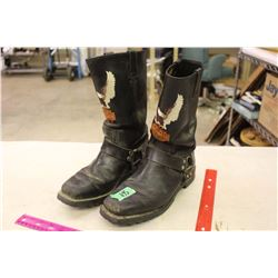 Harley Davidson Leather Boots, Approx Size 9