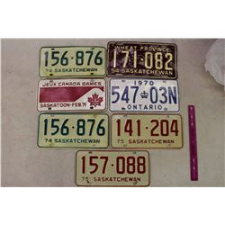 Assortment Of Vintage Licence Plates