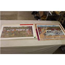 Pair Of Arnie Tiefenbech Numbered Lithographs