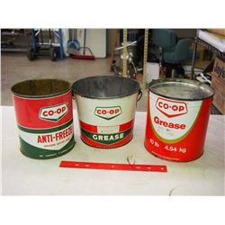 Co-op Tins (3)(Grease, Antifreeze)