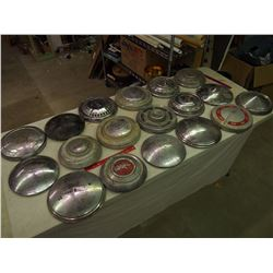 Huge Lot Of Vintage Hub Caps (18)
