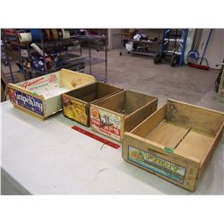 Lot Of Wood Fruit Boxes (4)