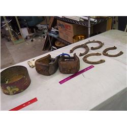Lot Of Vintage (Horseshoes, Foot Holds, Etc)