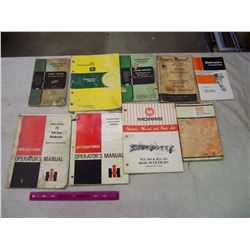Lot Of Vintage Tractor Manuals