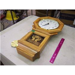 Cardinal Wooden Clock, Prince Albert Credit Union